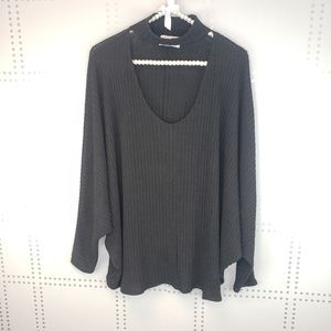 Urban Outfitters | Ribbed Black Cutout Sweater